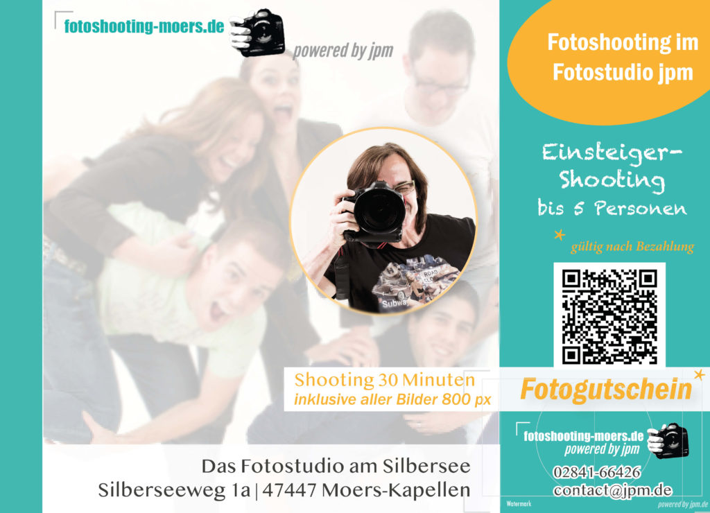 Fotoshooting Gutschein für Einsteiger