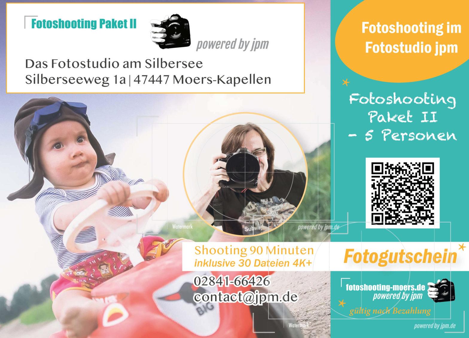 Fotogutschein Paket 2 für fünf Personen und mehr